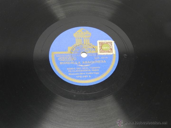 Discos de pizarra: DISCO DE PIZARRA RONDALLA ARAGONESA / GOYESCAS, BANDA DEL REAL CUERPO DE ALABARDEROS, MADRID, 173031 - Foto 2 - 44979528
