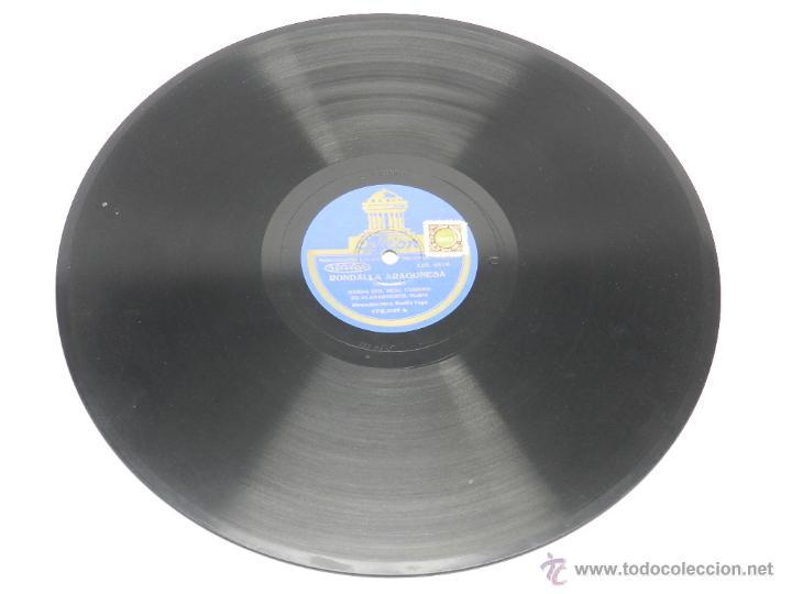 Discos de pizarra: DISCO DE PIZARRA RONDALLA ARAGONESA / GOYESCAS, BANDA DEL REAL CUERPO DE ALABARDEROS, MADRID, 173031 - Foto 4 - 44979528