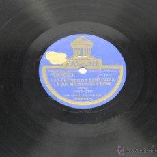 Discos de pizarra: DISCO DE PIZARRA (JOTAS ARAGONESAS), 182522, LA SAL SE TE VA CAYENDO Y LAS QUE MAS FLORES TIENE, POR. Lote 44979579