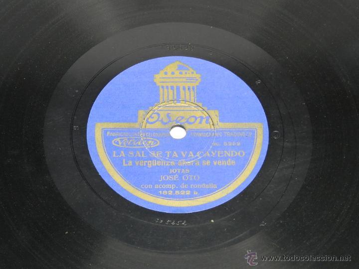 Discos de pizarra: DISCO DE PIZARRA (JOTAS ARAGONESAS), 182522, LA SAL SE TE VA CAYENDO Y LAS QUE MAS FLORES TIENE, POR - Foto 2 - 44979579