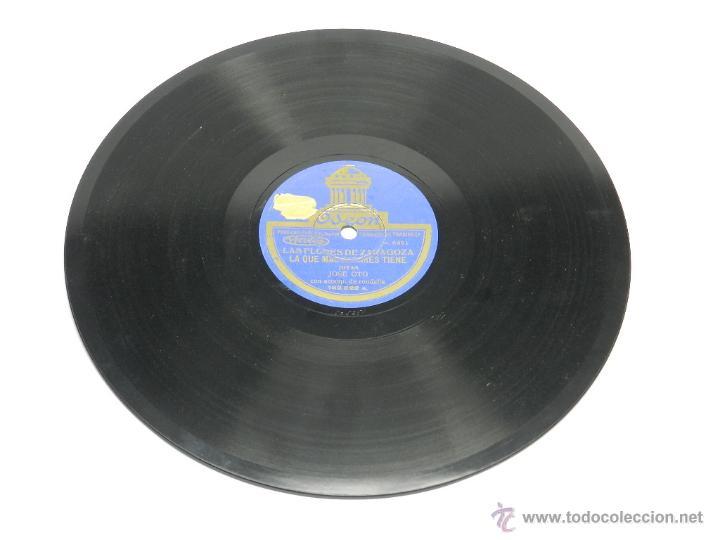 Discos de pizarra: DISCO DE PIZARRA (JOTAS ARAGONESAS), 182522, LA SAL SE TE VA CAYENDO Y LAS QUE MAS FLORES TIENE, POR - Foto 3 - 44979579