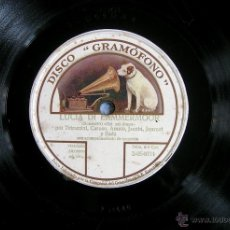Discos de pizarra: DISCO 78 RPM PIZARRA - LUCIA LAMMERMOOR -SEXTETO: TETRAZZINI, CARUSO, AMATO, JACOBI, JOURNET Y BADA.. Lote 44989401