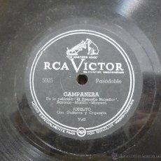 Discos de pizarra: JOSELITO - CAMPANERA (PELÍCULA EL PEQUEÑO RUISEÑOR) / EL COPLERO - PIZARRA RCA VICTOR - 5025. Lote 45015075