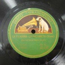 Discos de pizarra: CUARTET VOCAL SANTA CECILIA - CARAMELLES / LA FILADORA-LA PASTORETA - PIZARRA AE 2785 - E11. Lote 45022736