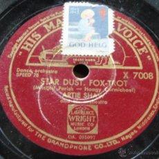 Discos de pizarra: ARTIE SHAW & HIS ORCHESTRA ( ROCKIN' CHAIR - STAR DUST ) ENGLAND HIS MASTER'S VOICE. Lote 45068303