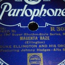 Discos de pizarra: DUKE ELLINGTON & HIS ORCHESTRA FEATURING JOHNNY HODGES ALTO-SAX (MAGENTA HAZE - DIMINUENDO IN BLUE). Lote 45085475
