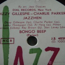 Dischi in gommalacca: DIZZY GILLESPIE - CHARLIE PARKER JAZZMEN ( BONGO BEEP ) HOWARD MCGHEE JAM BAND ( TRUMPET AT TEMPO). Lote 45095803