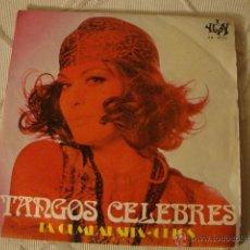 Discos de pizarra: DISCO SINGLE TANGOS CELEBRES. Lote 45110896
