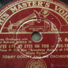 Discos de pizarra: TOMMY DORSEY & HIS ORCHESTRA ( I CONCENTRATE ON YOU - I'VE GOT MY EYES ON YOU ) HMV. Lote 45132629