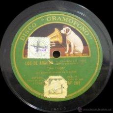 Discos de pizarra: TINO FOLGAR - LOS DE ARAGÓN - PIZARRA 12'' DISCO GRAMÓFONO - AF 282 - ESPAÑA 1930. Lote 45237893