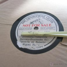 Discos de pizarra: LAMENTO DI FEDERICO DISCO DE PIZARRA MIGUEL FLETA. Lote 45331088