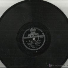 Discos de pizarra: CARLOS GARDEL DISCO DE PIZARRA GOLONDRINAS/RUBIAS DE NUEVA YORK.ARGENTINA. Lote 45350394