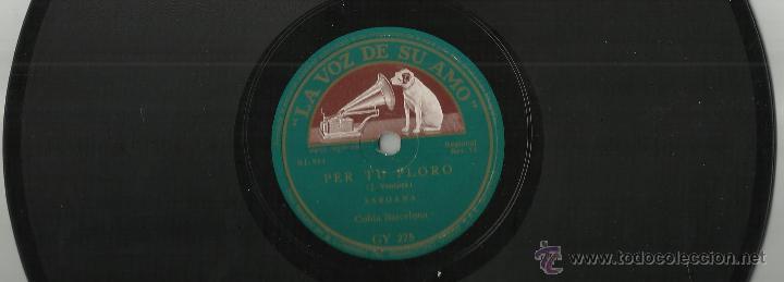 COBLA LA PRINCIPAL DE LA BISBAL-ANGELINA/COBLA BARCELONA-PER TU PLORO.DISCO DE PIZARRA (Música - Discos - Pizarra - Flamenco, Canción española y Cuplé)