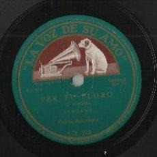 Discos de pizarra: COBLA LA PRINCIPAL DE LA BISBAL-ANGELINA/COBLA BARCELONA-PER TU PLORO.DISCO DE PIZARRA. Lote 45538054