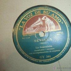 Discos de pizarra: LA ARGENTINITA DISCO DE PIZARRA. Lote 45609321