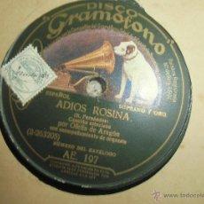 Discos de pizarra: DISCO DE PIZARRA CANCIÓN ASTURIANA,. Lote 45669842