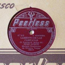 Discos de pizarra: PEDRO INFANTE.ROSA MARIA-LAMENTO DE LAS CAMPANAS...RANCHERAS..PRECIO ESPECIAL SOLO RECOGIDA. Lote 45703580