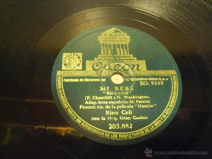 DISCO DE PIZARRA MI BEBE. CUANDO VEO UN ELEFANTE VOLAR. (Música - Discos - Pizarra - Bandas Sonoras y Actores )