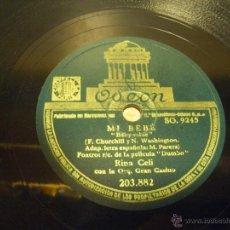 Discos de pizarra: DISCO DE PIZARRA MI BEBE Y CUANDO VEO UN ELEFANTE VOLAR. Lote 45757492
