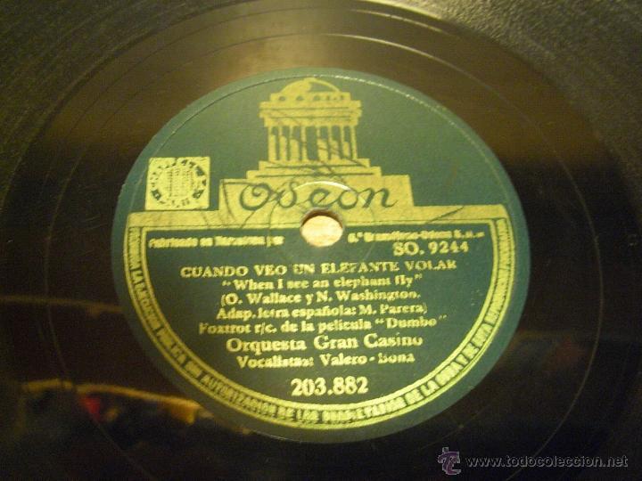 Discos de pizarra: DISCO DE PIZARRA MI BEBE. CUANDO VEO UN ELEFANTE VOLAR. - Foto 2 - 45757492