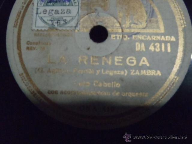 Discos de pizarra: DISCO DE PIZARRA JUERGA FLAMENCA.LA RENEGA.* - Foto 2 - 47869488