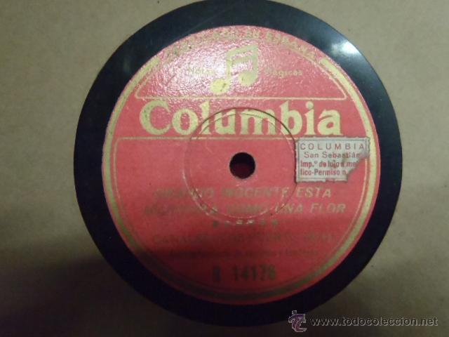 DISCO DE PIZARRA CANALEJAS DE PUERTO REAL SAETAS.* (Música - Discos - Pizarra - Otros estilos)