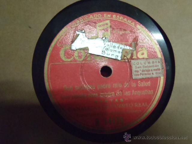 Discos de pizarra: DISCO DE PIZARRA CANALEJAS DE PUERTO REAL SAETAS.* - Foto 2 - 46894882