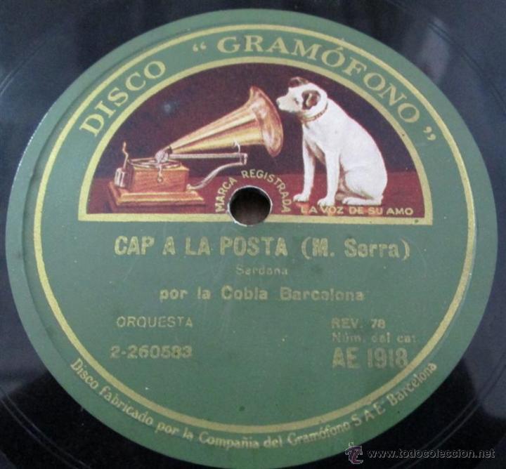 Discos de pizarra: COBLA BARCELONA -- el saltiro de la cardina – Bou Cap a la posta – M. Serra - Foto 2 - 46111618