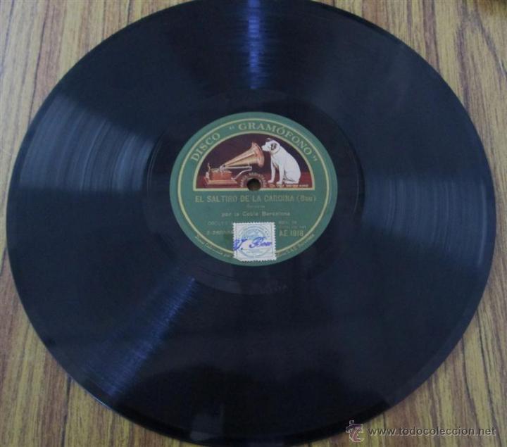 Discos de pizarra: COBLA BARCELONA -- el saltiro de la cardina – Bou Cap a la posta – M. Serra - Foto 3 - 46111618