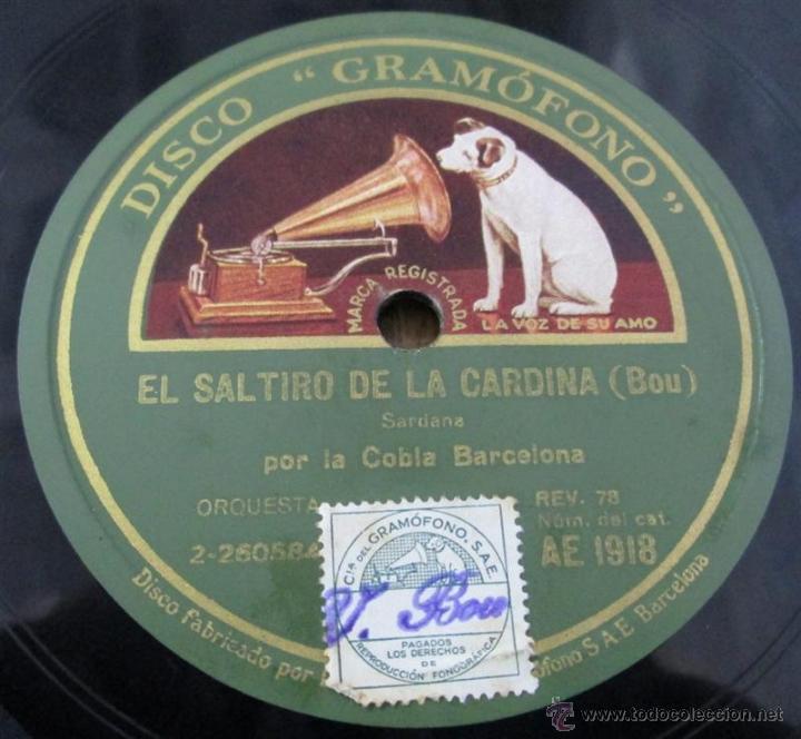 Discos de pizarra: COBLA BARCELONA -- el saltiro de la cardina – Bou Cap a la posta – M. Serra - Foto 4 - 46111618
