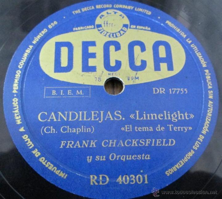 Discos de pizarra: FRANK CHACKSFIELD -- Candilejas - Foto 4 - 46111671