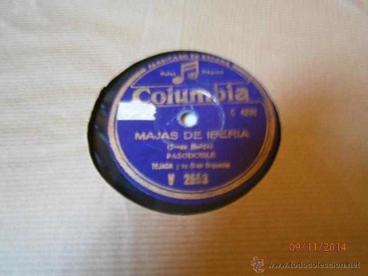 Discos de pizarra: DISCO PIZARRA MAJAS DE IBERIA,TU BLONDA. - Foto 2 - 46116627