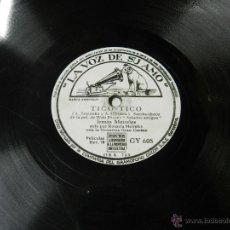 Discos de pizarra: DISCO DE PIZARRA ADIOS (BOLERO ESPAÑOL) / TICO-TICO, DE LA PELI WALT DISNEY SALUDOS AMIGOS, POR IRMA. Lote 46690809