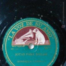 Discos de pizarra: JOTAS PARA BAILAR.JOTAS DE BAILE. RONDALLA CANDELA. JUSTO ROYO. Lote 46713646
