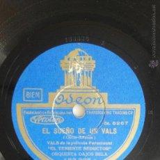 Discos de pizarra: EL SUEÑO DE UN VALS. PICCOLO, PICCOLO. ORQUESTA DAJOS BELA. Lote 46726041