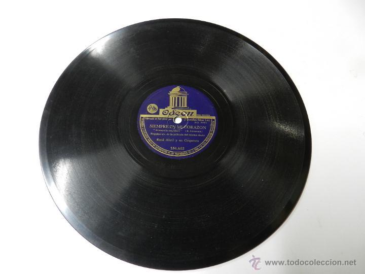 DISCO DE PIZARRA SIEMPRE EN MI CORAZON DE LA PELICULA DEL MISMO TITULO RAUL ABRIL Y SU ORQUESTA, ED. (Música - Discos - Pizarra - Bandas Sonoras y Actores )