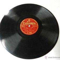 Discos de pizarra: DISCO DE PIZARRA DE JORGE CARDOSO. ME LLAMAN EL SOLITARIO / COPACABANA, ED. COLUMBIA R 14660, LIGER. Lote 46750904