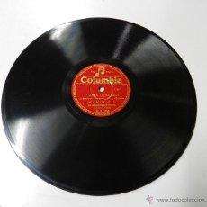 Discos de pizarra: DISCO DE PIZARRA DE MARIO GIL, MARIA DOLORES / UN ANGEL FUE, ACOMP. DE ORQUESTA , DIR. TEJADA, COL. Lote 46752053