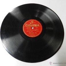 Discos de pizarra: DISCO DE PIZARRA COLUMBIA R14407. EDMUNDO ROS Y ORQUESTA: LORITO BRASILEIRO / NO CAN DO, BUEN ESTADO. Lote 46752293