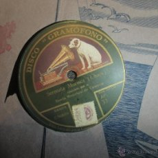 Discos de pizarra: DISCO DE PIZARRA GRAMOFONO. Lote 46753727