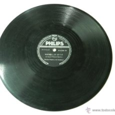 Discos de pizarra: DISCO DE PIZARRA DE XAVIER CUGAT Y SU ORQUESTA, MAMBO AY AY AY / SUR, ED. PHILIPS, B 21384 H, BUEN E. Lote 46768122