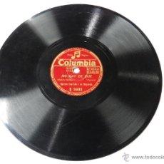 Discos de pizarra: DISCO DE PIZARRA RAMON EVARISTO Y SU ORQUESTA, TODA UNA VIDA / NO HAY DE QUE, ED. COLUMBIA, R 14418.. Lote 46768983