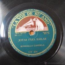 Discos de pizarra: RONDALLA CANDELA Y JUSTO ROYO - JOTAS PARA BAILAR / JOTAS DE BAILE - PIZARRA. Lote 46936976