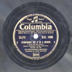 Discos de pizarra: DISCO GRAMÓFONO .FROM THE NEW WORLD DVORAK. Nº 1. Lote 137476968