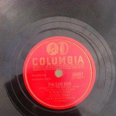 Discos de pizarra: DISCO DE PIZARRA (XAVIER CUGAT AND HIS WALDORF-ASTORIA) THANKS FOR THE DREAM - BIM BAM BUM. Lote 47134782