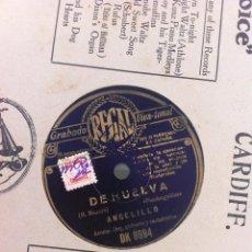 Discos de pizarra: DISCO DE PIZARRA (ANGELILLO) LOS PESCADORES - DE HUELVA.. Lote 47136073