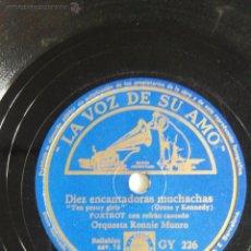 Disques en gomme-laque: DIEZ ENCANTADORAS MUCHACHAS. BALALAIKA. ORQUESTA JACK HYLTON. Lote 47179854