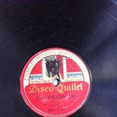 Discos de pizarra: DISCO DE PIZARRA (ALAZANO - LA PEONZA) BANDA. DISCO QUILLET. Lote 47290659