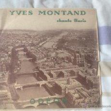 Discos de pizarra: YVES MONTAND, CHANTE PARÍS . Lote 47569043