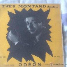 Discos de pizarra: YVES MONTAND, CHANTE,,,,,. Lote 47569114